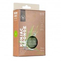 Gąbka konjac do mycia twarzy z aloesem (duża) - Aloe Vera Konjac Sponge