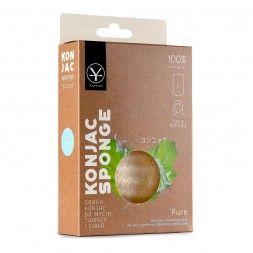 Gąbka konjac do mycia twarzy hipoalergiczna (duża) - Pure Konjac Sponge