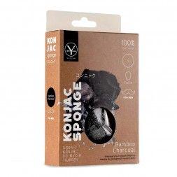 Gąbka konjac do mycia twarzy z aktywnym węglem (mała)