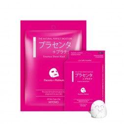 Japońska maska na twarz MITOMO Białko z Łożyska i Platyna