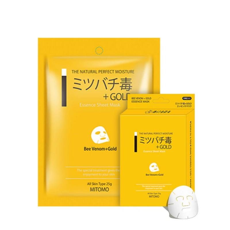 Japońska maska na twarz MITOMO jad Pszczeli i Złoto