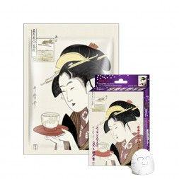 Japońska maska na twarz MITOMO koenzym Q10 i ekstrakt z Nawrotu Lekarskiego (Lithospermum)