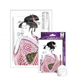 Japońska maska na twarz MITOMO Kolagen i ekstrakt z nawrotu Lekarskiego (Lithospermum)