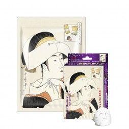 Japońska maska na twarz MITOMO kwas Hialuronowy i ekstrakt z Nawrotu Lekarskiego (Lithospermum)