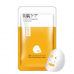 Japońska maska na twarz MITOMO z olejkiem Arganowym, dodatkiem oleju kokosowego